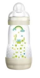 """תמונה של בקבוק מאם עם מנגנון נגד גזים 260 מ""""ל"""