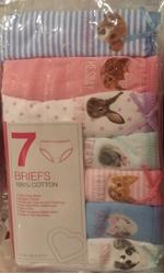 Изображение Girls Cotton Briefs with 'Pets' print  * 10