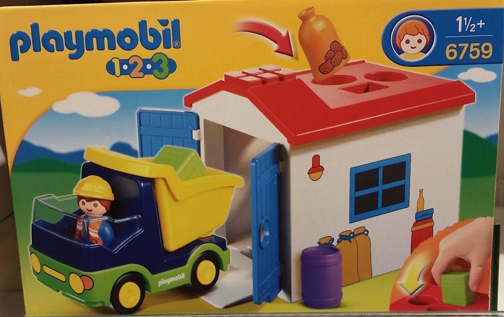 Berlinbuy Playmobil 6759 1 2 3 Truck And Garage