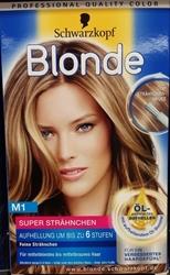 Изображение Schwarzkopf medium blonde hair color  M1