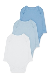 Изображение Babies long sleeve babysuits- 3 pack