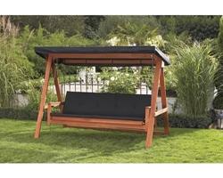 Изображение Hollywood swinging Four Seasons wood 3 seater brown