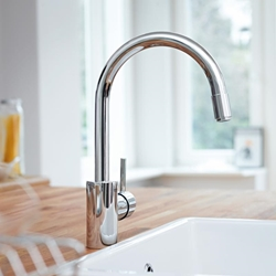 Изображение Grohe Concetto single lever kitchen mixer, pull-out mousseur outlet chrome  32663001