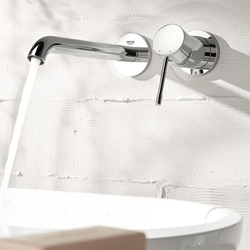 Picture of Grohe Essence 2 hole wall-mounted basin mixer projection - 183 mm, chrome  19408001