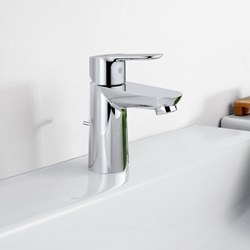 תמונה של Grohe BauEdge single lever basin mixer, S-Size with pop-up waste set  23328000