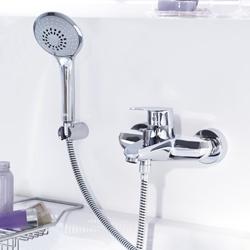 Изображение Grohe Eurodisc Cosmopolitan single lever bath mixer with shower set, wall-mounted  33395002