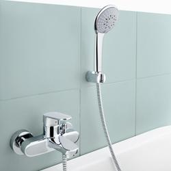 Изображение Grohe Europlus single lever bath mixer with shower set  33547002