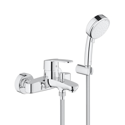 Изображение Grohe Eurostyle Cosmopolitan single lever bath mixer w. Shower set, wall-mounted  3359220A