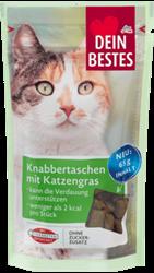 תמונה של חטיף קריספי לחתולים - שקיות חטיפים עם דשא חתול