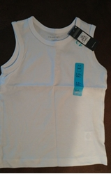 Изображение Boys white vests from cotton