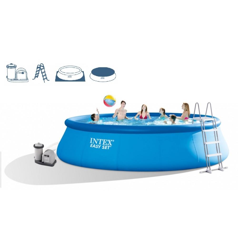 intex easy set pool. תמונה של intex easy set pool 549 x 122 cm + cartridge filter system 28176gn intex i