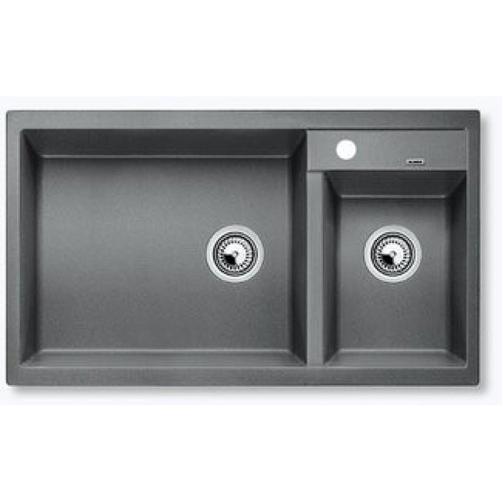 Berlinbuy Blanco Metra 9 Granite Sink Silgranit Alumetallic 513268