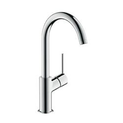 תמונה של Hansgrohe Talis single lever basin mixer 210, with fixed spout with pop-up waste 32080000 Version