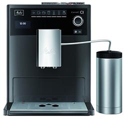 תמונה של Melitta Caffeo CI Special E970-205, coffee machine with insulating milk container, two-chamber bean container, One Touch function, high gloss, stainless steel look, anthracite