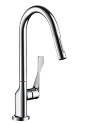 Изображение AXOR Citterio Single lever kitchen mixer with pull-out spray and swivel spout, chrome