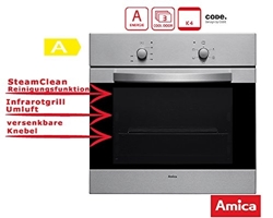 Picture of Amica EB 13521 E Oven Electric / A / 0.79 kWh / 69 Liter / Conventional heating / stainless steel