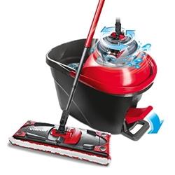 Изображение Vileda Ultramat Turbo complete set, floor wiper and bucket with power swirl