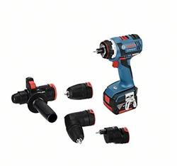 תמונה של Bosch Professional 14.4V cordless screwdriver GSR 14.4 V-EC FC2 2 x 4.0 Ah battery charger drill chuck attachment drill hammer attachment L-BOXX (18 Volt Max. Torque: 46 Nm)