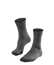 Picture of FALKE ladies trekking sock TK 2, gray (asphalt mel.) 3180, 41/42