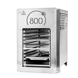 Picture of 800 ° high-performance grill Top heat grill stainless steel incl. Grill grid Gastro cupboard Protective drawer Piezo ignition