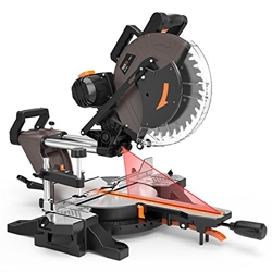 תמונה של 1700W Miter Saw with Φ305 mm Saw Blade, Tacklife PMS03A 3800RPM Chop Saw Adjustable Cutting Angle -45 ° / 0 ° / + 45 ° Adjustable counterclockwise base 45 ° with a 40T blade for cutting wood