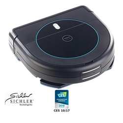 Picture of Sichler Appliances Wipers: Multiroom vacuum & wipe robot with 4-phase cleaning & charging station (suction and wiping robot)