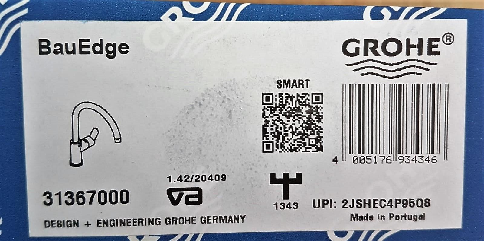 BerlinBuy. Grohe BauEdge sink mixer chrome 31367000