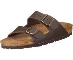 תמונה של נעליים בירקנשטוק אריזונה מעור טבעי חום כהה