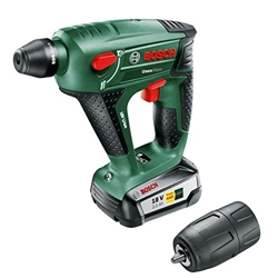 תמונה של Bosch DIY UneoMaxx Cordless Hammer Drill, Battery, Charger, Round Shank Adapter, 2 SDS-Quick Concrete Drills, 2 Hex Shank Drills, 4 Bits, Hard Case (18 V, 2.5 Ah, 10 mm Drill-Ø Concrete)