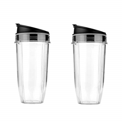 תמונה של 2Pcs 24oz Mug & Lid Replacement Set, Fit for Nutri Ninja Auto IQ and Duo Blenders, BL480, BL490, BL640, and BL680