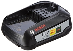 Picture of Bosch 18V replacement battery PBA 18 (18 volt system, 2.5 Ah)