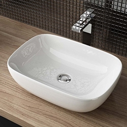 Picture of Washbasin24 WxDxH: 45,5x32,5x13,5 CM CERAMIC UPGRADE WASHBASI HANDWASHBASIN GUEST WC TOP A106
