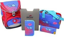 Picture of ErgoFlex School Backpack Set 5-piece Dolphin
