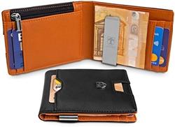 Picture of TRAVANDO wallet with money clip LONDON wallet slim wallet men coin pocket RFID wallet men small portmonaise credit card wallet wallet purse credit card holder Portmonai gift