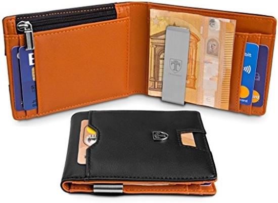 4520e5a0e8ff Picture of TRAVANDO wallet with money clip LONDON wallet slim wallet men  coin pocket RFID wallet