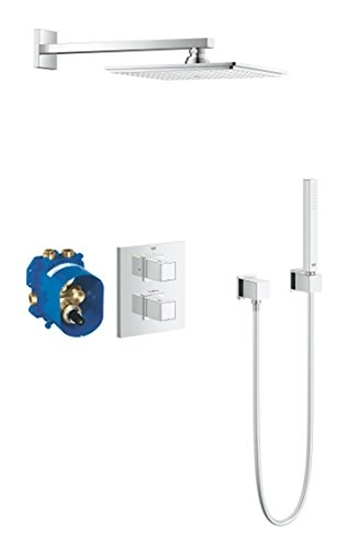 Изображение GROHE Cube | Shower and Shower Systems - Shower System | Complete set with overhead shower | 34506000