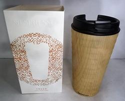 תמונה של נספרסו טאץ׳ כוס נסיעה במראה עץ