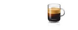 תמונה של סט של שתי כוסות אספרסו ושתי כפיות NESPRESSO Vertuo