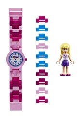 Picture of LEGO Friends 8020172 Stephanie children's watch with minifigure and link bracelet to assemble