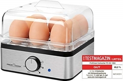 Picture of ProfiCook PC-EK 1084 egg cooker for up to 8 eggs, omelet / poaching function, stainless steel casing