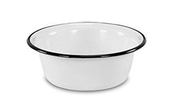 Изображение Krüger enameled bowl, enamel, white 28 cm