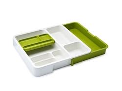 Изображение Joseph Joseph JJ85045 drawer organizer white / green