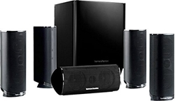 Picture of Harman / Kardon HKTS 16 5.1-channel speaker system (surround sound with home theater sound, including 4 dual midrange satellite speakers, 1 center speaker, 200-watt subwoofer) black