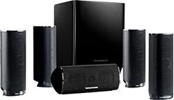 Изображение Harman / Kardon HKTS 16 5.1-channel speaker system (surround sound with home theater sound, including 4 dual midrange satellite speakers, 1 center speaker, 200-watt subwoofer) black