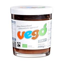 Picture of VEGO - Fine hazelnut chocolate spread (crunchy) - ORGANIC. VEGAN. (200 g)