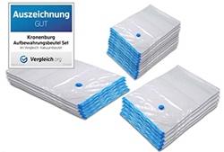 Picture of Kronenburg 20 pcs. Set of vacuum bags - Storage bags - Various sizes - Award GOOD