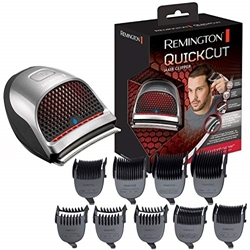 Picture of Remington hair clipper QuickCut HC4250, CurveCut blade technology, ergonomic design, 9 attachment combs, black / silver