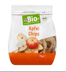 תמונה של dmBio Dried fruit apple chips, 70 g