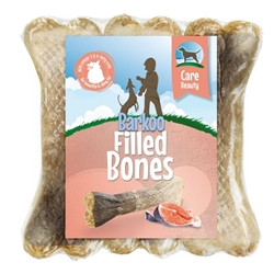 Изображение Barkoo filled chewed bones - Beauty (with salmon)