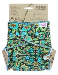 Picture of Petit Lulu Fitted Nappy Size 2 (4-15kg) - Snaps